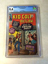 KID COLT OUTLAW #122 CGC 9.4  TOP GRADED, NONE NICER, OUTLAW DIES, KIRBY, 1965