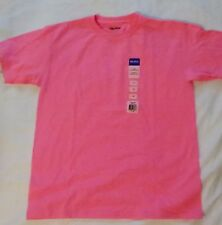 Gildan T-Shirt Youth Size Large Ultra Cotton Plain Crewneck Safety Pink NWT