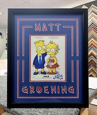 Matt Groening Signed Magazine Page Jsa Custom Framed The Simpsons