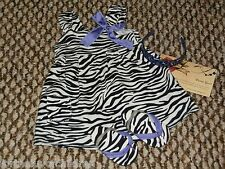 American Girl Zebra Safari Sundress Outfit W/ Shoes Headband 4P Retired 2010 Jly
