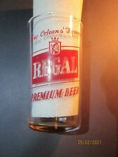 """New listing Vintage """"Regal Premium Beer"""" Acl Glass 1950-60"""