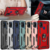 For Samsung Galaxy M31S M31 M21 Shockproof Armor Ring Holder Rugged Case Cover