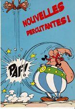 CARTE POSTALE ASTERIX *NOUVELLES PERCUTANTES!* (GOSCINNY-UDERZO)