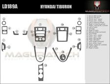 Fits Hyundai Tiburon 2006 W/Auto Trans & Manual AC Large Wood Dash Trim Kit