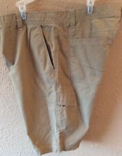 Men's Rustic Ridge Cargo Shorts Size 40 Tan Color Six Pocket
