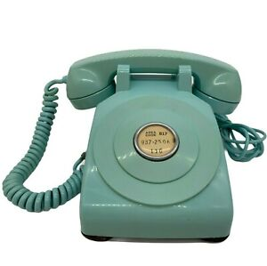 1954 Western Electric BELL SYSTEM Model 500 in AQUA #62 Telephone NO DIAL RARE!