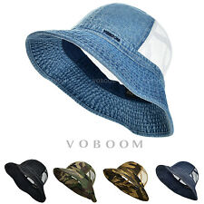 VOBOOM Men's Bucket Hat Boonie Hunting Fising Cap Wide Brim Fashion Mesh Sun Hat