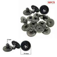 30 Pcs Car Auto Self Tapping Screws Seat Nut Cap Plastic Black Fastener