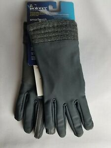 isotoner Signature Gray Smart Touch Touchscreen Gloves Size S/M $52 MSRP
