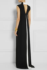 Valentino Black Bow-embellished Silk-crepe Gown Dress New BNWT UK 12 IT 44 £3025