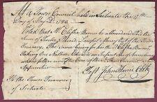 American Colonial Era Manuscript Document, Scituate, Massachusetts, 1783