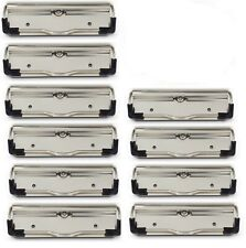 10 pack Low Profile Heavy Duty Clipboard Clips, Flat Style, clip only...