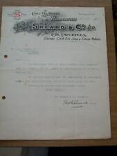 Old Letter - Sheard & Co. Oil Importers Folly Hall Huddersfield 1910