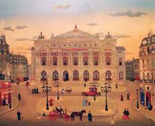 """Michel Delacroix     """"Le Places De Paris""""   Lithograph on Paper      BA"""