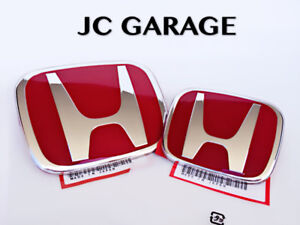 JDM RED FRONT REAR EMBLEM BADGE FOR HONDA JAZZ FIT 2019 - 2020
