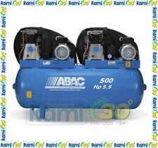 Compressore aria pistoni TANDEM ABAC PRO B5900 500 T5,5 - 500 lt - 5,5 + 5,5 HP