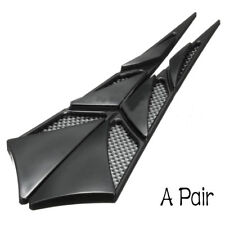 2* Black Universal ABS Car Hood Side Air Intake Flow Vent Cover Decorative Stick