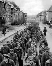 GERMAN PRISONERS OF WAR 8X10 PHOTO WORLD WAR II 1944