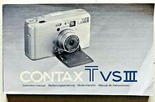 Contax TVS III Instruction manual Manuale di istruzioni Originale Quattro lingue