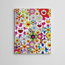 "16X20"" Gallery Art Canvas: Takashi Murakami Flowers Smiley Faces Complexcon!"