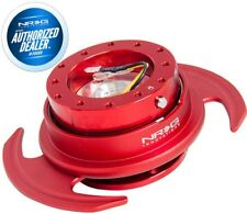 NEW NRG Gen. 3 Steering Wheel Quick Release Red Body & Ring w/ Handles SRK-650RD