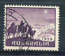 AUSTRALIE - AUSTRALIA, 1959, timbre 262, NOEL, CHRISTMAS, oblitéré