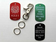 Firefighter Accountability Tags - Get 2 w/Lobster Claw and Free Engraving