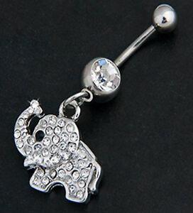 ELEPHANT NAVEL BELLY BAR 316L STAINLESS STEEL