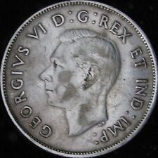 1940 XF Canada Silver 50 Cents (Fifty, Half) - KM# 36 - Free Shipping - JG