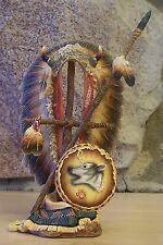 Sacred Cultures Sculptural COURAGE 3D Sculpture Native American Indian MIB + COA