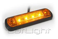 6 Stück LED Seitenmarkierungsleuchten MAN Gelb Seitenleuchte Anhänger 12 24 Volt