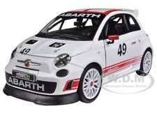 FIAT ABARTH 500 ASSETTO COURSE #49 1/24 DIECAST MODEL CAR BY BBURAGO 28101