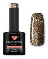 QCYZ-008 VB™ Line Diamond Gold Silver Glitter - UV/LED soak off gel nail polish