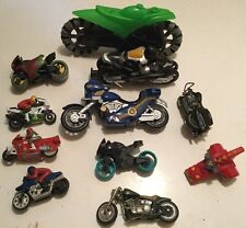 Large Mixed Lot 13 Toy Motorcycles Motor Bikes Batman Motorcycle Various Makes