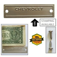 Chevy Data Plate ID Chevrolet Tag VIN 1953-1963 Serial Number Door Pillar Etched