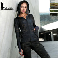 Women Military Tactical T-Shirt Army Combat Outdoor Hiking Camping Casual Hoodie