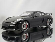 GT Spirit Porsche Cayman GT4 981C Black Resin Model Car 1:18