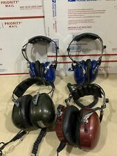 Headset Lot ~Peltor ~Solution1~Avcomm Racing For Parts Or Repair Only