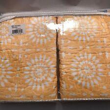 "2 NEW Kari Euro Pillow Sham Yellow White Floral Mudhut 26"" Square NWT Target set"