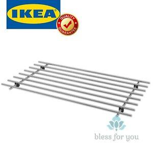 "IKEA LAMPLIG Trivet Stainless Steel 20x11"""