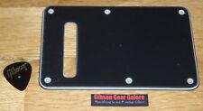 Fender Stratocaster Cavity Plate Deluxe Tremolo Cover 3 Ply Black Guitar Parts