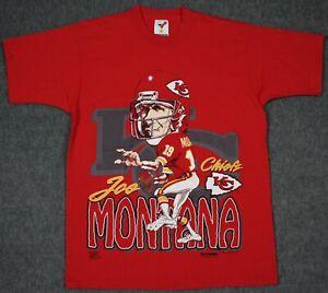 Joe Montana Kansas City Chiefs Vintage 90's 1993 T-Shirt Large Single Stitched