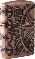 Zippo Nautical Scene Armor MultiCut Antique Copper Windproof Lighter 11328