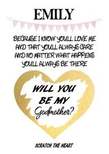 Personalised Will You Be My Godmother Scratch Off Card
