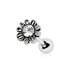 316L Stainless Steel Daisy Flower WildKlass Cartilage Earring (Silver)