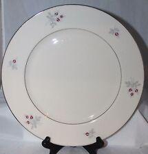 7 Triomphe China DINNER PLATES classic CARESS burgundy gray USA
