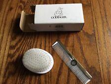 Godinger Sheep Boy Comb & Brush Baby Gift Set Fine Stainless Steel