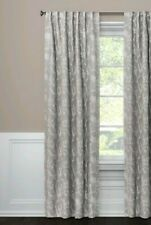 Threshold Gray Edalene Floral One Window Curtain Panel ~ 50x95 ~ Blackout