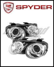 Spyder Acura Integra 98-01 Projector Headlights LED Halo-Chrome High H1 Low 9006