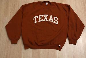 Vintage Russell Athletic Crewneck Adult XL Orange 90s Texas Longhorn Sweatshirt